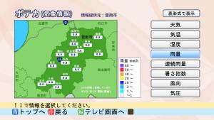 『超高密度気象観測システム「POTEKA」の情報をデータ放送で!』